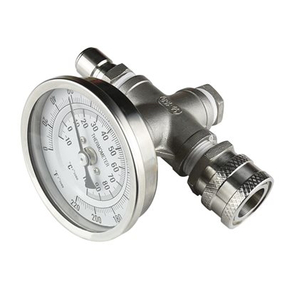 Inline Thermometer W / Ss Quick Disconnect