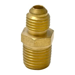 "Brass Adapter 1 / 4"" Male Npt X 1 / 4"" Mfl"